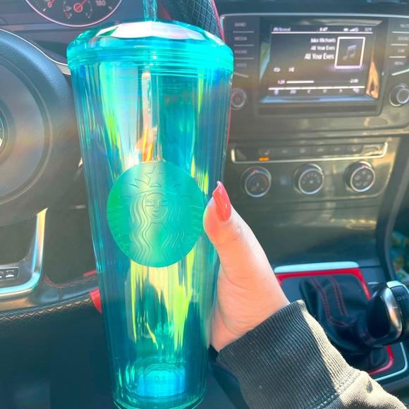 Turquoise Starbucks Tumbler